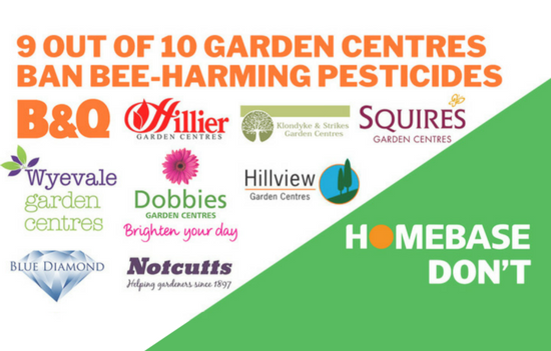 9/10 garden centres have committed to stop using neonics. Homebase needs to do the same.
