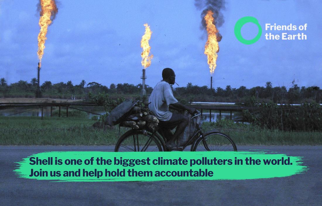 Gas flaring in Nigeria. Shell is one of the biggest climate polluters in the world. Join us and help hold them accountable.